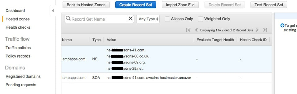Create a Hosted Zone - Step 2