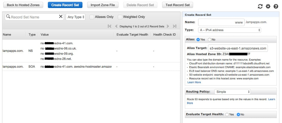 Create a Hosted Zone - Step 3